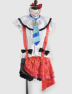 Inspired by Love Live Umi Sonoda Video Game Cosplay Costumes Cosplay Suits / School Uniforms Patchwork White / Red SleevelessTop / Skirt