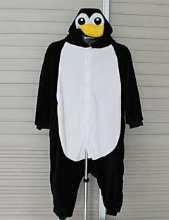 Kigurumi Pajamas Penguin Leotard/Onesie Halloween Animal Sleepwear Yellow / Black/White Patchwork Flannel Kigurumi Kid Halloween