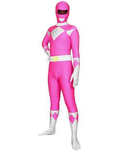 Unisex Power Ranger Pink Lycra & Spandex Full Body Zentai Suit