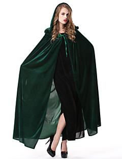 Umhang Zauberer/Hexe Fest/Feiertage Halloween Kostüme Blau Grün einfarbig Umhang Halloween Karneval Frau