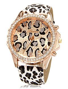 Damen Modeuhr Quartz PU Band Leopard Mehrfarbig Marke-