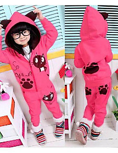 Girl's Clothing Set,Cotton / Knitwear Winter / All Seasons Pink