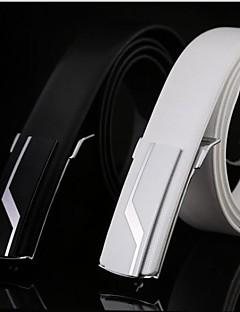Men's Sport Smooth Buckle Genuine Leather Belt(2 Colors)