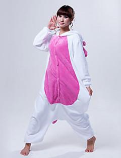 Kigurumi Pajamas Unicorn Leotard/Onesie Halloween Animal Sleepwear White / Pink / Blue Patchwork Coral fleece Kigurumi Unisex Halloween