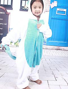 Kigurumi Pajamas Unicorn Leotard/Onesie Festival/Holiday Animal Sleepwear Halloween White Blue Patchwork Flannel Kigurumi For Kid
