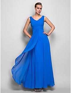 TS Couture® Formal Evening / Military Ball Dress - Ocean Blue Plus Sizes / Petite Sheath/Column V-neck Floor-length Georgette