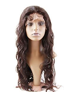 """24 """"mongol Vierge de cheveux humains pleines perruques de lacet"""
