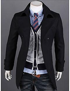 v je jednoduchý módní klopě bunda (černá)