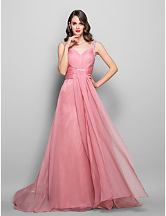 Formal Evening/Prom/Military Ball Dress - Pearl Pink Plus Sizes A-line Sweetheart Floor-length Chiffon