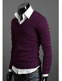 Men's Current Wild Rabbit Plush California Thickened End V-Neck Knit Sweater