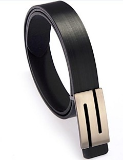 Nová móda dámská Faux Leather Premium S Shape Metal Buckle Belt