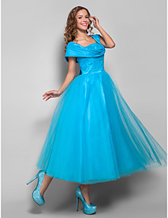 TS Couture® Cocktail Party / Holiday Dress - Pool Plus Sizes / Petite Ball Gown Straps Tea-length Tulle