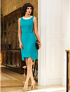 Cocktail Party/Holiday Dress - Jade Sheath/Column Jewel Knee-length Chiffon