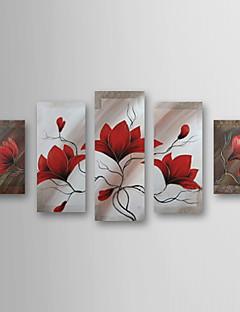 Pintados a mano, pintura al óleo del paisaje floral de gran tamaño Juego de 5