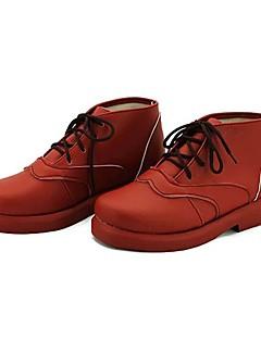 Sapatos de Cosplay Fantasias Fantasias Anime Sapatos de Cosplay Vermelho Pele PU Feminino