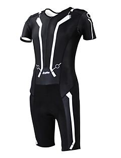 Kooplus Macacão para Triathlon Mulheres Homens Unissexo Manga Curta Moto Respirável Secagem Rápida Permeável á Humidade Vestível