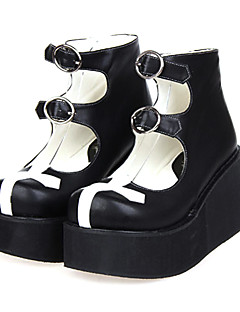 Lolita Shoes Gothic Lolita Lolita Platform Shoes Patchwork 8 CM For PU Leather/Polyurethane Leather
