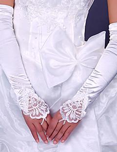Luva Luvas de Noiva/Luvas de Festa Ópera Sem Dedos Cetim Elástico