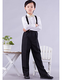 Polester/Cotton Blend Ring Bearer Suit - 4 Pieces Includes  Shirt / Pants / Bow Tie / Suspenders
