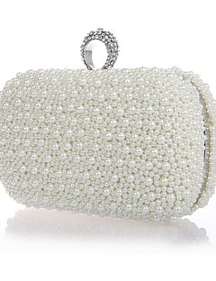 Metal Wedding/Special Occasion Clutches/Evening Handbags with Rhinestones/Imitation Pearls (More Colors)