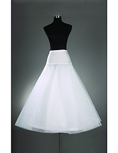 Lycra And Oganza A-line Two Tier Floor-length Petticoats