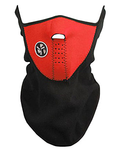 Outdoor Cycling Red Fleece Thermal Mask