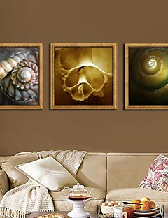 Stilleben Indrammet Lærred / Indrammet Sæt Wall Art,PVC Gylden Ingen Måtte med Frame Wall Art