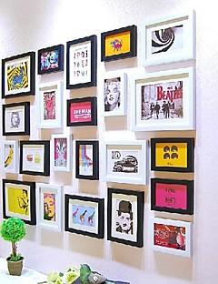 Sort Farve fotoramme Collection Set af 22