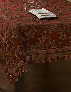 Concise broderie d'or Red Polyester Nappe