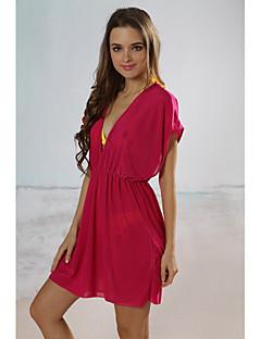 kvinders solid strand cover-up mini kjole