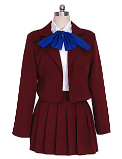 Sword Art Online - Álfheim Online Lyfa Wine Red Cosplay Kostuum