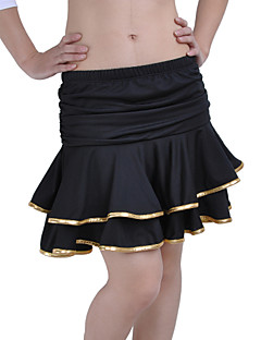 ריקוד לטיני חצאיות בגדי ריקוד נשים אימון זהורית / ניילון / פוליאסטר קפלים / Leopard 33cm