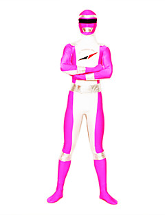 Ternos Zentai Super-Heróis / Power Rangers Fantasia Zentai Fantasias de Cosplay Rosa PatchworkMalha Collant/Pijama Macacão / Fantasia