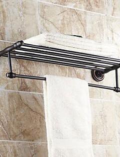 "Handtuchhalter / Badezimmer Regal Bronze, geölt Wandmontage 630x 265 x 66mm (24.8 x10.43x 2.59"") Messing Traditionell"
