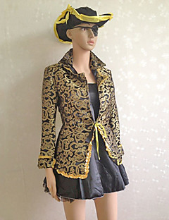 Cool Pirate Black and Golden Women's Halloween Costume