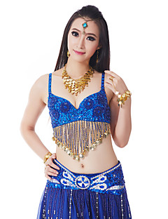 Belly Dance Tops Women's Training Polyester Beading / Coins / Sequins / Tassel(s)