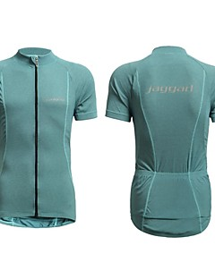 Jaggad Men's Summer Reflective Logo Rear Pocket Short Sleeve Cycling Jersey - Light Blue