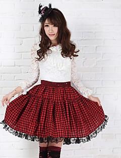 School Girl Angelic Sexy Plaid Goth Punk Lolita  Red and Black Club Skirts