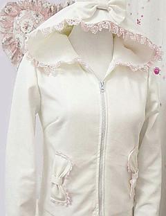 Kabát Sweet Lolita Lolita Cosplay Lolita šaty Bílá Jednobarevné Dlouhé rukávy Lolita Kabát Pro Dámské Polyester
