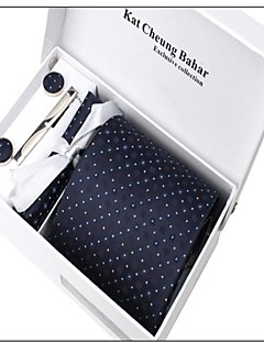 Men Party / Work / Casual Neck Tie,Polyester All Seasons Christmas Gifts