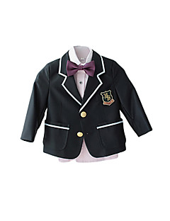 Polyester Ring Bearer Suit - 4 Pieces Includes  Jacket / Vest / Pants / Bow Tie