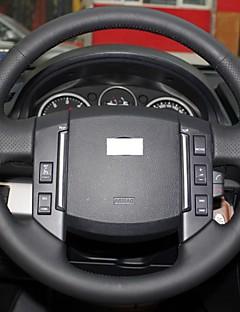 Xuji ™ cubierta de la rueda de dirección de cuero negro genuino para el período 2007-2012 Land Rover Freelander 2 discovery 3