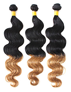 100% Human Hair Weaving Two Tone Color Braziliaanse Virgin Ombre Hair 16inches Body Wave
