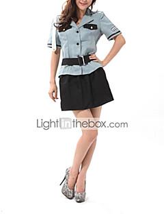 Charming Girl Grau Shirt Black Rock Polizei Kostüm (4 Stück)