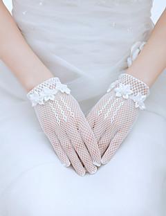 Luva Luvas de Noiva/Luvas de Festa Até o Pulso Com Dedos Tule