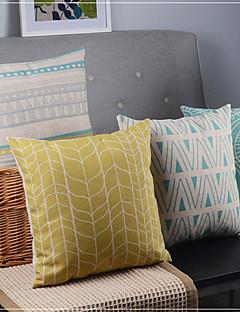 ensemble de 4 lignes classiques de minimalisme et courbes taies d'oreiller décoratifs mixtes