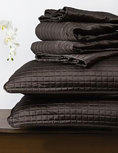 huani® quilt sæt, 3 stk plaid sort polyester
