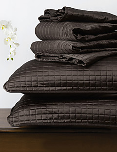 huani® Quilt-Set, 3 Stück Plaid aus schwarzem Polyester