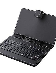 7 дюймовый кожи Чехол с клавиатурой, стилусом и микро USB для планшетного PC