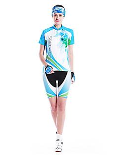MYSENLAN® חולצת ג'רסי ומכנס קצר לרכיבה לנשים שרוול קצר אופניים נושם / ייבוש מהיר / עמיד / לביש חולצה+שורטס / מדים בסטיםכותנה / 100%